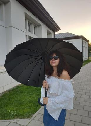 Парасоля парасолька на 16 спиць тростина зонт зонтик трость
