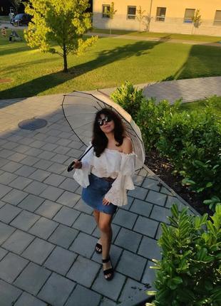 Прозора парасоля парасолька для фотосесій зонт зонтик прозрачный трость