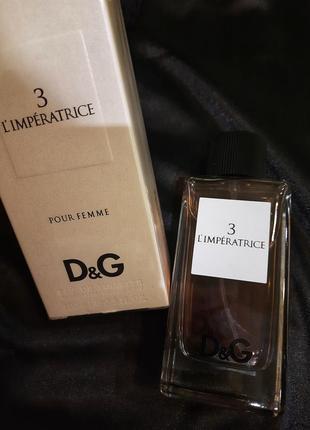 Dolce & gabbana 3 l`imperatrice дольче габана императрица туалетная вода 100мл імператриця