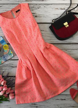 Женственное платье в стиле нью-лук из фактурной ткани    dr2013    f&f