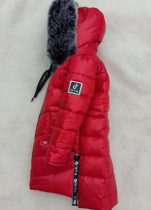 Зимняя куртка пуховик девочке тик ток монклер