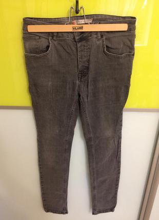 Скинни с высокой посадкой river island скини с завышенной талией серые джинсы