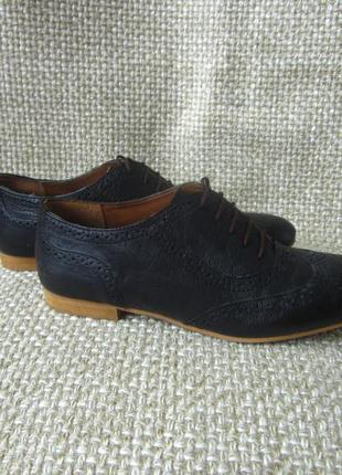 Zara р.38 стильні броги оксфорди туфлі шкіра