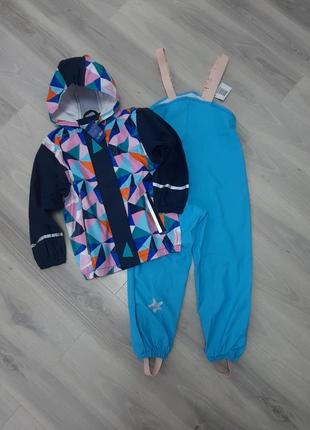 Комплект дождевик куртка lupilu и полукомбинезон kuniboo оба без подкладки 110/116 см