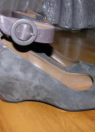 Кожаные туфли clarks 24.5 р.