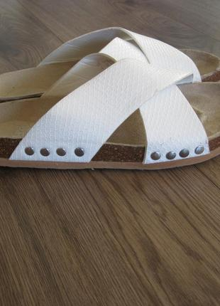 Сланцы шлепанцы f&f белые размер 38-39