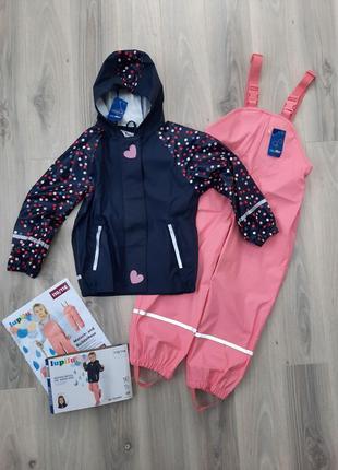 Комплект дождевик куртка и полукомбинезон оба без подкладки lupilu 110/116 см