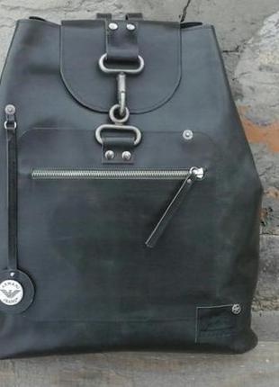 Натуральная кожа рюкзак цвета хаки