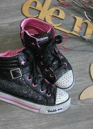 Skechers twinkle toes оригинал высокие кеды хайтопы размер 32