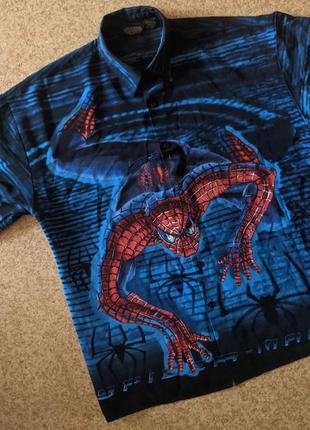 Винтажная рубашка мерч marvel spider-man (2002)