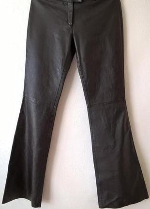 Кожаные брюки клеш от колена xs