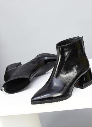36-40 ботильоны ботинки осень зима кожаные шикарные изящные стильные модные