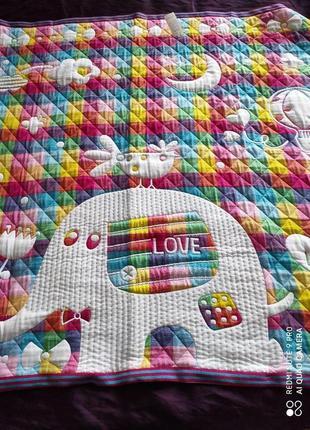 Детское одеяло плед для новорожденных стеганое ковдра дитяча