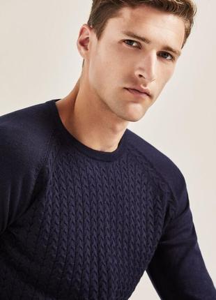 Стильный мужской свитер cortefiel (испания).