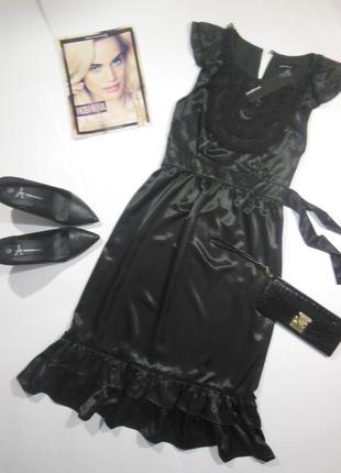 Вечернее платье с воланами в винтажном стиле