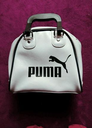 Спортивная маленькая сумка puma цвет светло сиреневый