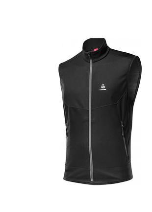 Жилет loffler gore windstopper outdoor running vest softshell light - l