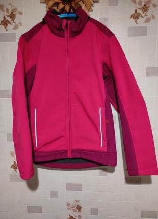Демисезонная термо куртка софтшел alive 146-152 р. 10-12 лет состояние новой