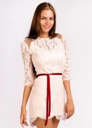 Нежное кружевное асимметричное платье love republic