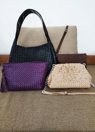 Кожаная плетёная сумка любой дизайн