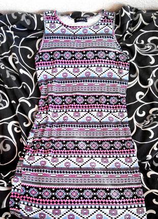 Модное платье этно принт