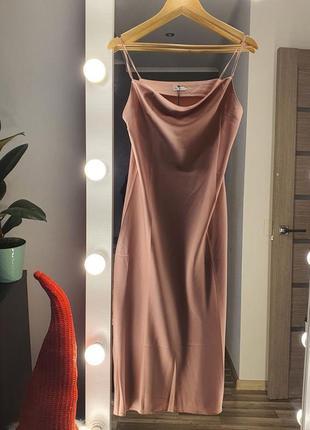 Цвета и размеры 🔥 элегантное миди платье-комбинация из шелка в бельевом стиле