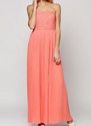Шикарное вечернее плиссированное платье h&m