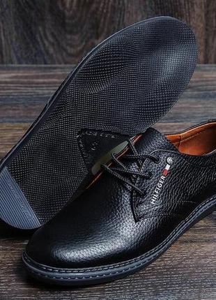 Кожаные туфли из натуральной кожи tommy hilfiger(40-45р)