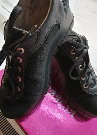 Ботинки натуральная замша и кожа