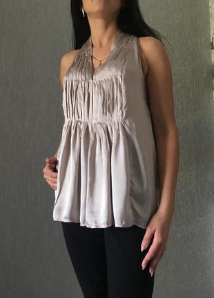 Шикарная блуза оверсвйз жемчуг шёлк silk day