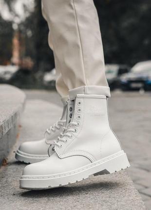 Кожаные ботинки dr. martens 1460 white шкіряні черевики натуральная кожа шкіра