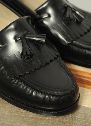 Шкіряні американські туфлі лофери туфли sas handsewn tassel loafers 10.5 - 28.5 см
