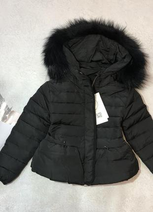 Зимняя куртка пуховик 3-4 года 100см 6-7лет 122см натуральний пух