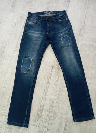 Мужские джинсы синие 48р w33l33