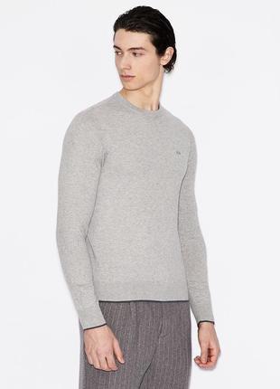 Мужской джемпер, пуловер armani exchange серый s\l