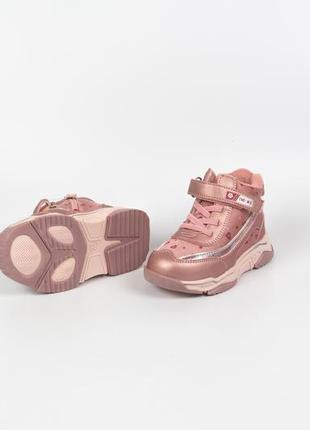 Ботинки кожаные демисезонные для девочки weestep