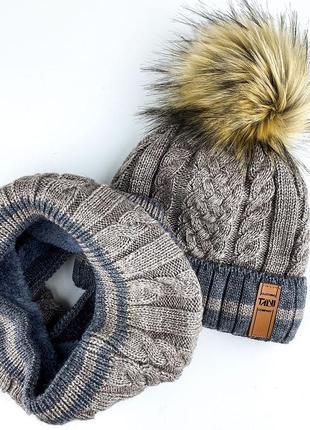 Зимний комплект на меху