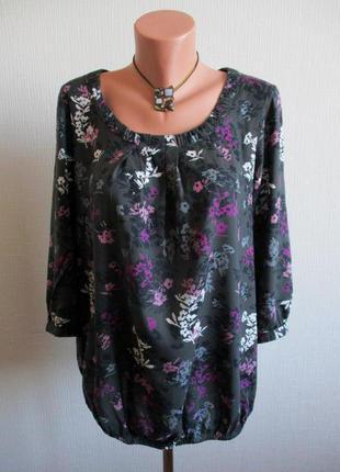 Натуральная блузка в цветочный принт maine new england