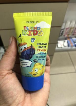 """Зубная паста для детей faberlic """"груша» 50мл."""