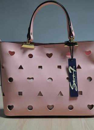 Стильная розовая сумочка seven7