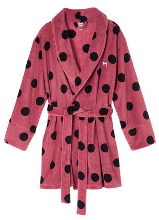Плюшевый халат victoria's secret pink cozy robe