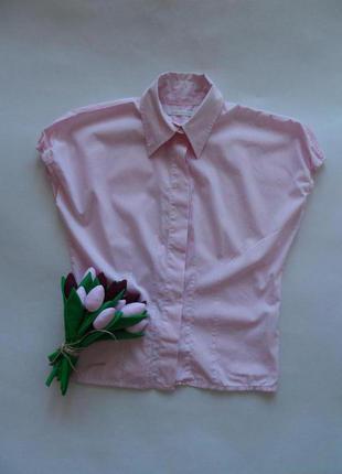 Блуза guess dинтересного кроя в полоску в размере 46