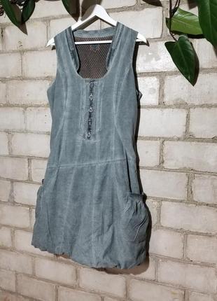 Платье сарафан баллон из микровельвета варенка nile швейцария бохо