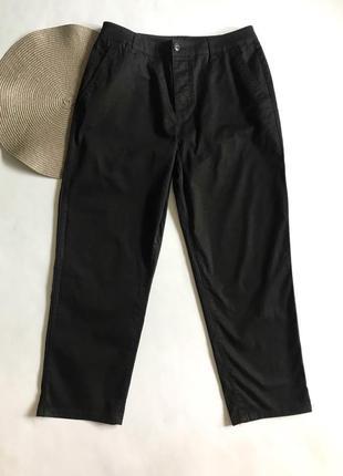 Прямые чёрные cropped брюки asos