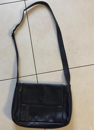 Сумка, сумочка,  на три отделения, натуральная