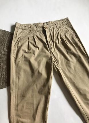 Бежевые прямые брюки vero moda