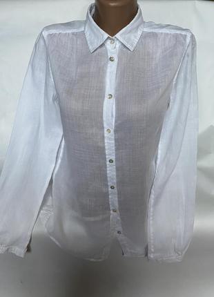 Брендовая льняная рубашка