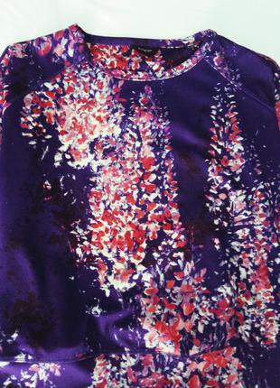 Фиолетовый свитшот с цветами