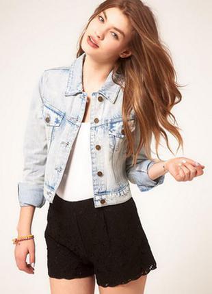 Трендовая джинсовая куртка,пиджак, dorothy perkins варенка,потертости,bershka,zara,gap