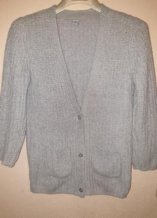 Кардиган, теплая кофта, свитер на пуговицах, для девочки 7,8,9, лет